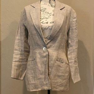 Womens FORWEAR NEW YORK Linen Blazer 1 Button Slim